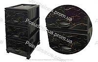 Пластиковый комод для прихожей на 3 ящиками Мрамор Elif  Турция