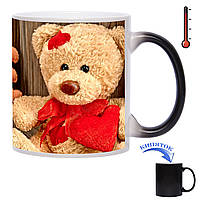 Чашка-хамелеон Влюблённый Мишка 330 мл