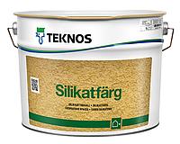 Краска силикатная TEKNOS SILIKATFARG фасадная белая (база 1) 9л