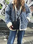 Жіноча сумка-гаманець (чорна) 1246, фото 3