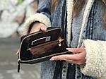 Жіноча сумка-гаманець (чорна) 1246, фото 2