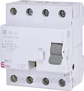 Реле дифференциальное (УЗО) EFI6-4 AC 40/0.03