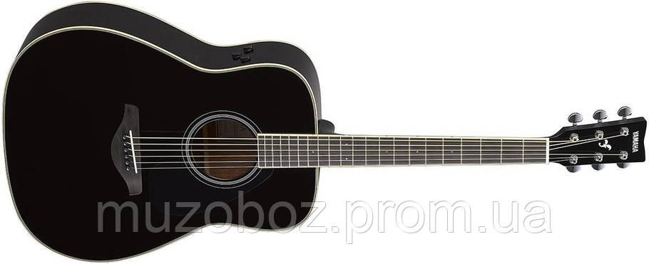 Электро-акустическая гитара Yamaha FG-TA (Black), фото 2
