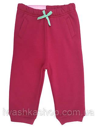 Утепленные спортивные штаны на девочку 6 - 12 месяцев, р. 74 - 80, Lupilu