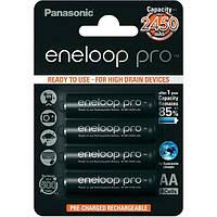 Аккумуляторные батарейки Panasonic Eneloop Pro AA 2450 mAh 4 шт (004110)