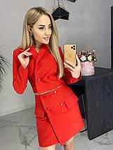 Женский костюм-двойка укороченный пиджак и юбка /разные цвета, 42-46, ft-475/, фото 3