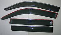 Toyota Prado 150 ветровики дверей с хром полоской ASP передние и задние/ дефлекторы/ sunvisors chrome