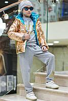 Детский костюм унисекс Адидас с шапкой меланж