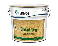 Краска силикатная TEKNOS SILIKATFARG фасадная белая (база 1) 2,7л