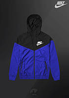 Ветровка Nike найк мужская Windrunner Jacket (Черно-синий) (S, M, L, XL, )