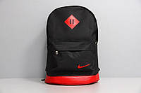 Рюкзак городской мужской, женский, для ноутбука   Nike (Найк) черный-красный