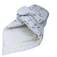 """Одеяло-конверт на выписку для новорожденных Солодкий Сон хлопок/плюш 80х100 см. """"Milk"""" Молочный, фото 1"""