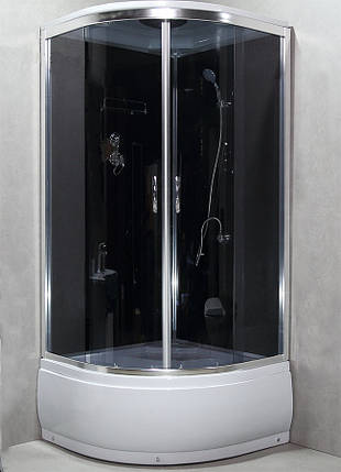 Душевая кабина с задними стенками 8300G душевой бокс 100х100, фото 2