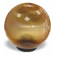 Садово-парковый светильник шар опал золотой 250 мм
