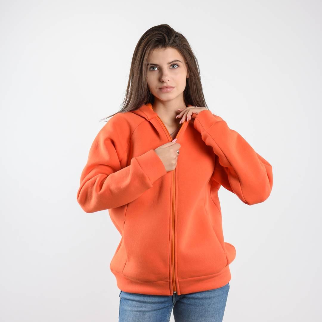 Утеплённая кофта FLEUR оранжевая