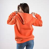 Утеплённая кофта FLEUR оранжевая, фото 2