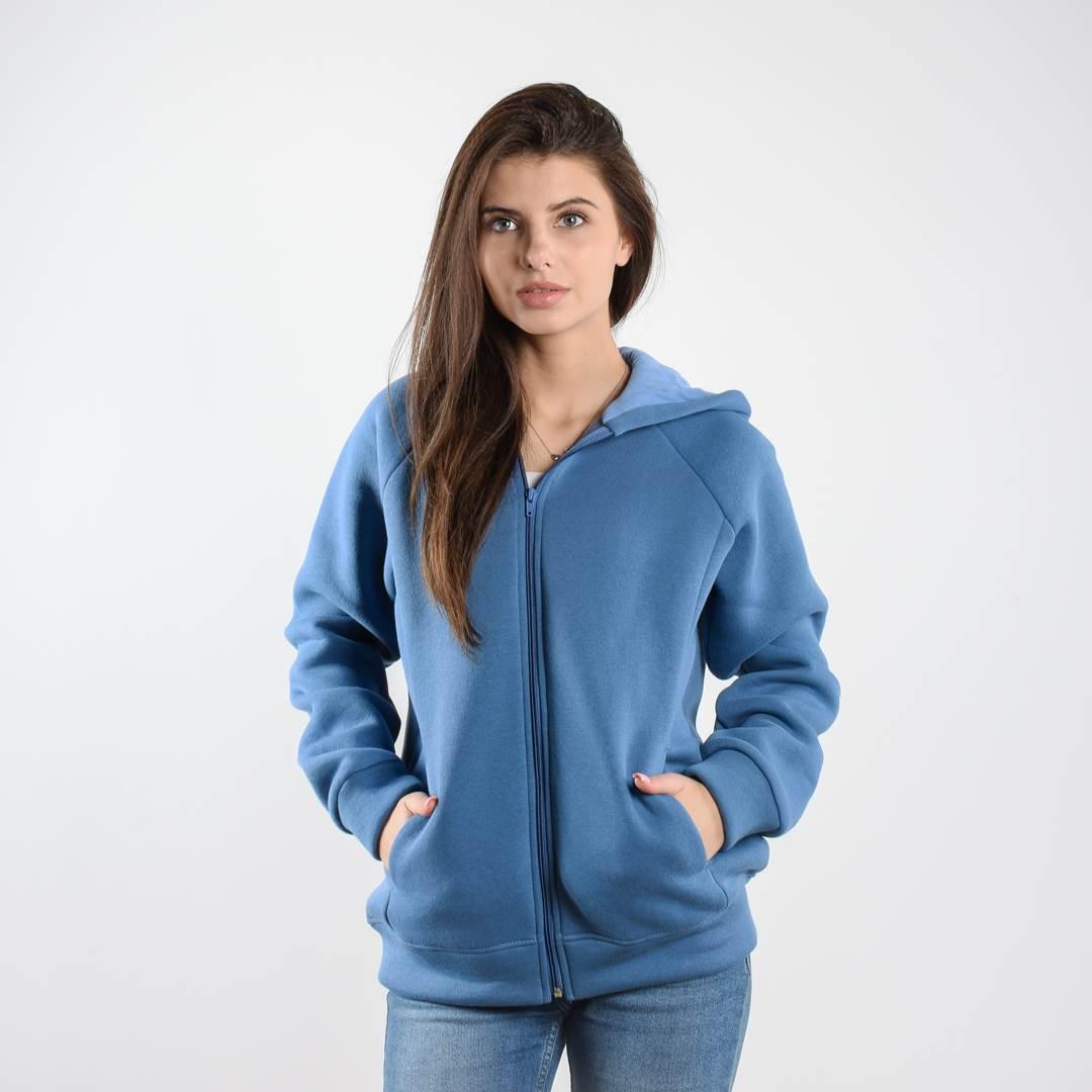 Утеплённая кофта FLEUR голубая