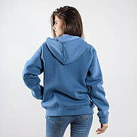 Утеплённая кофта FLEUR голубая, фото 2