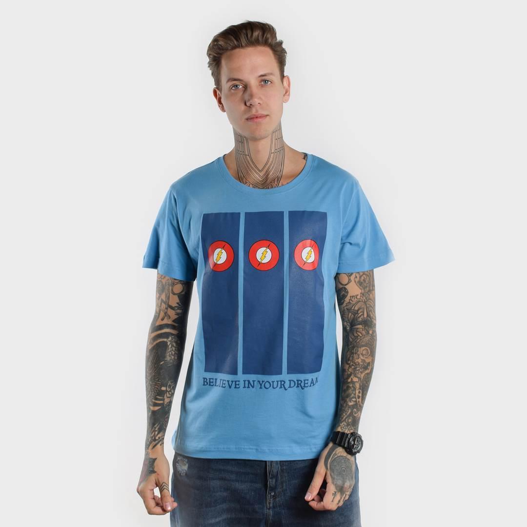 Футболка BELIEVE мужская голубая