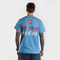 Футболка BELIEVE мужская голубая, фото 2