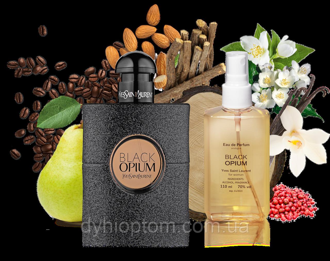 Аналог женского парфюма Black Opium 110ml в пластике
