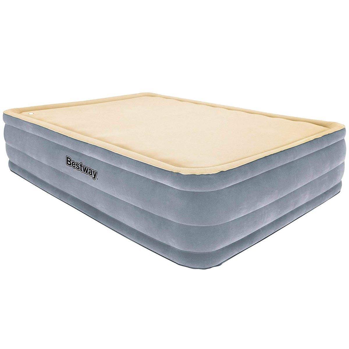 Двухспальная надувная кровать со встроенным электронасосом Bestway 67486 (размер 203-152-46 см)