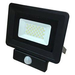 Прожектор светодиодный LED с датчиком движения 20w 6200K IP65