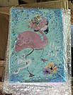 Блокнот с водой и блестками А5 80 листов Розовый фламинго, фото 2