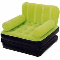 Кресло кровать надувное трансформер Bestway 67277 Зеленое (007320)