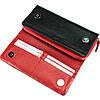 Большой женский кошелек кожаный черный с красным BUTUN 587-004-039, фото 5