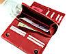 Большой женский кошелек кожаный черный с красным BUTUN 587-004-039, фото 7