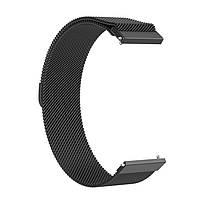 Amazfit Pace / Stratos / GTR 47 мм. Металлический магнитный ремешок для смарт часов, Black, ширина - 22 мм., фото 3