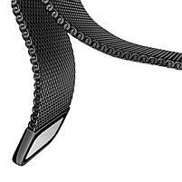 Amazfit Pace / Stratos / GTR 47 мм. Металлический магнитный ремешок для смарт часов, Black, ширина - 22 мм., фото 5