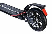 Самокат двухколесный Maraton - Городской самокат GMC Дисковый тормоз - Черный, фото 3