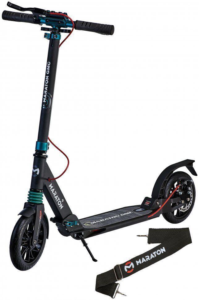 Самокат двухколесный Maraton - Городской самокат GMC Дисковый тормоз - Черный