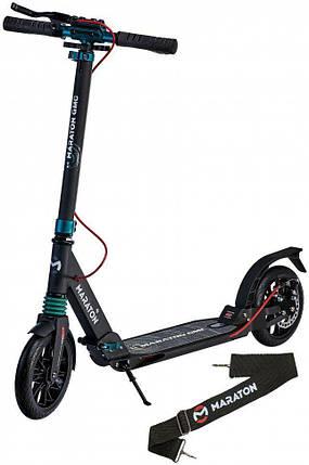 Самокат двухколесный Maraton - Городской самокат GMC Дисковый тормоз - Черный, фото 2