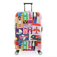Защитный Чехол для чемодана Весельчак + другие модели, фото 1