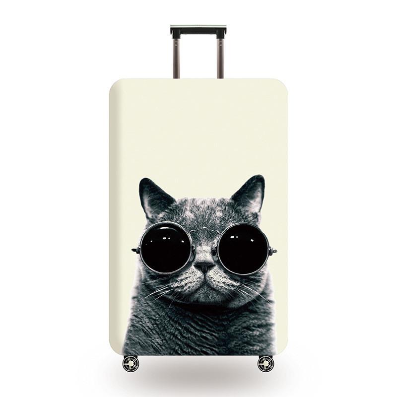 Защитный чехол для чемодана Кот в очках и другие модели