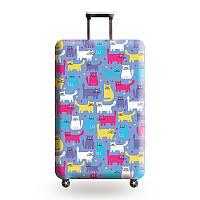 Защитный чехол для чемодана Разноцветные котики и другие модели, фото 1
