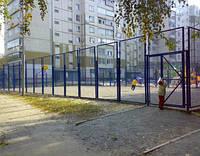 Секция заборная (забор) из сложно-рифленной сетки 60x60 диаметром 5мм.