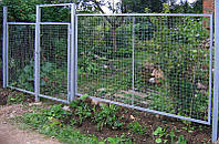 Секция заборная (забор) из сложно-рифленной сетки 60x60 диаметром 4мм.