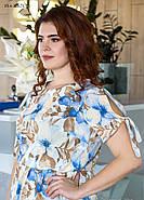 / Размер 50,52,54,56,58,60 / Женское платье из шелка свободного покроя, фото 3