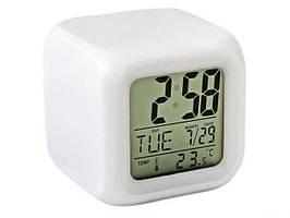 Часы хамелеон будильник термометром ночник Спартак (001677)
