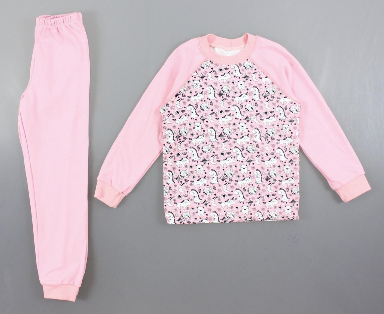 {есть:92,80} Пижама детская с начесом для девочек, 80-134 рр. Артикул: 11333 [92]