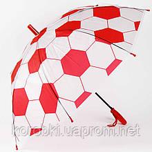 Зонт-трость ФУТБОЛ ДЕТСКИЙ  905-9 (0301). Длина 67 см, диаметр 85 см. Полуавтомат