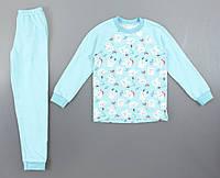 {есть:110,92} Пижама детская с начесом для девочек, 92-134 рр. Артикул: 11337 [92]