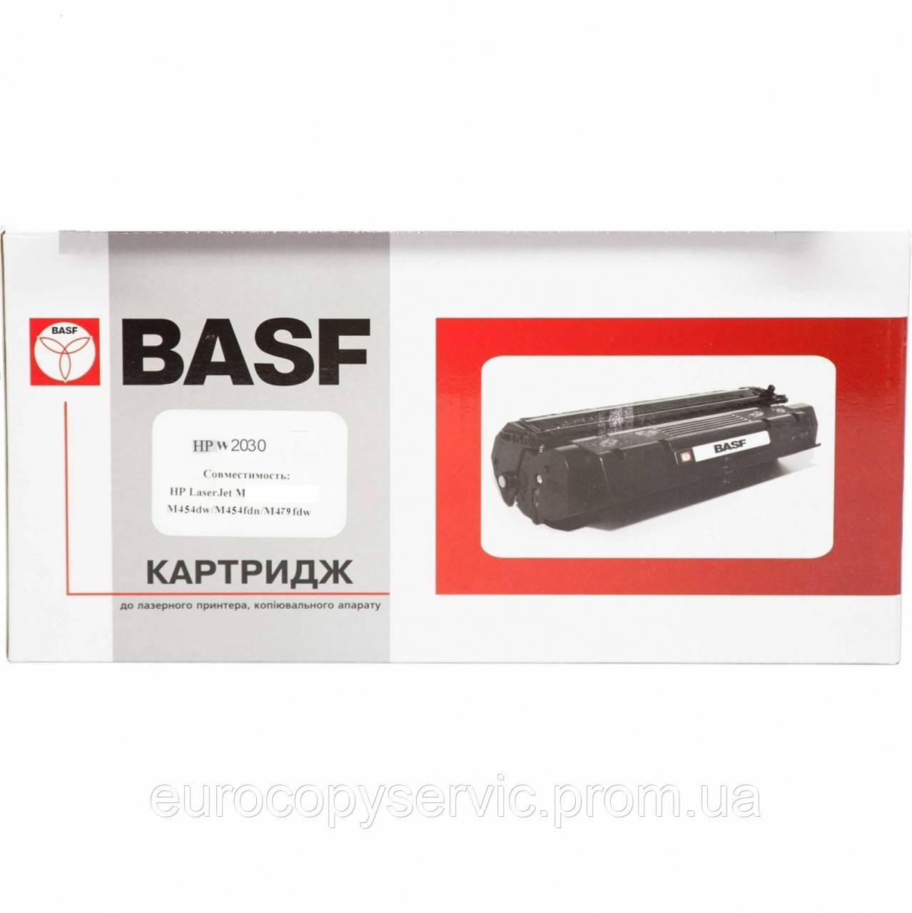 Тонер-картридж BASF для HP LJ Pro M454/479 аналог W2030X Black (BASF-KT-W2030X-WOC) без чіпа