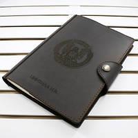 Кожаный блокнот M. Ежедневник А5 формата в кожаной обложке с лазерной гравировкой