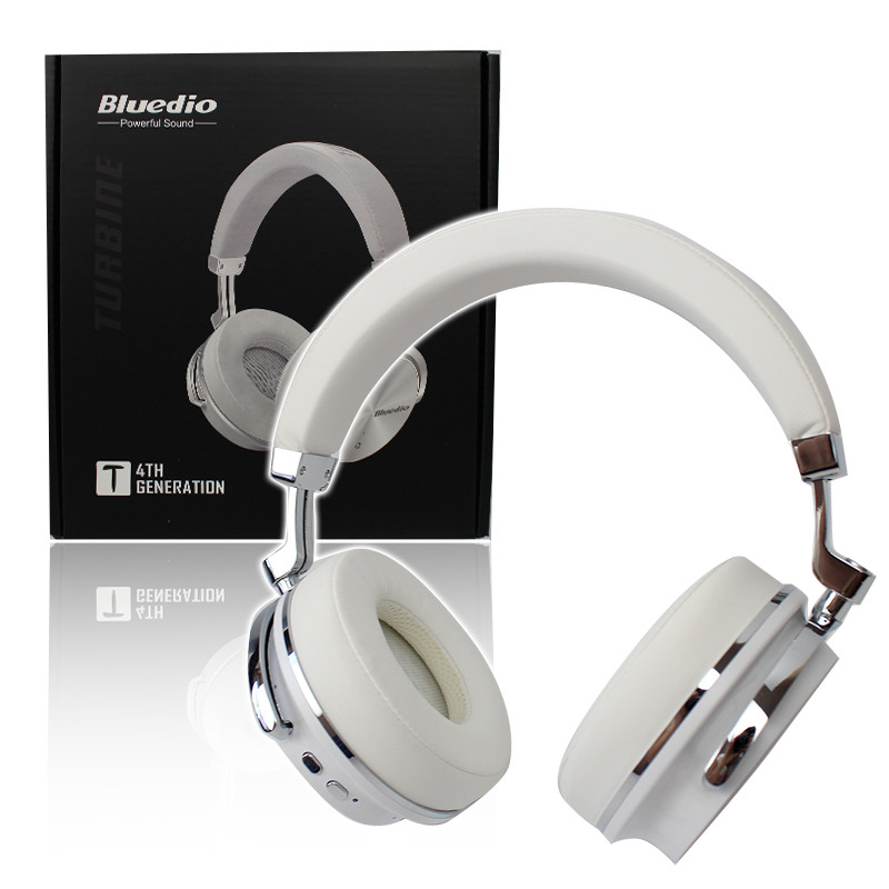 Беспроводные наушники с металлическим каркасом Bluetooth Bluedio T4 белые 151114