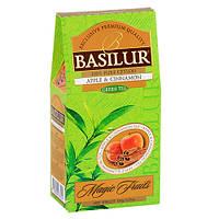 Зелений чай Basilur Яблуко і кориця 100 грам